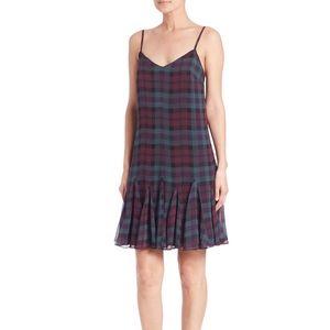 New Polo Ralph Lauren Silk Plaid Dress school girl